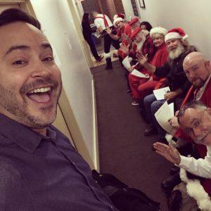 Brian and Santas at Boston Casting